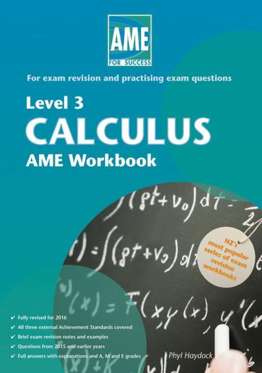Level 3 Calculus AME Workbook | Read Pacific | Reading Books ...